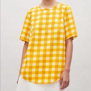 COS Yellow Checker Tunic